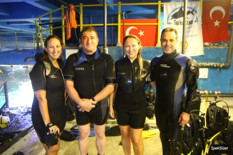turkuazoo'da dalış eğitimi