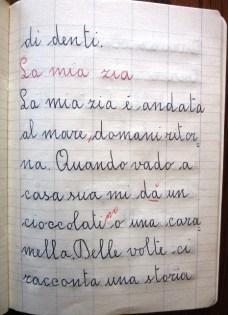 pensierino di seconda elementare di Susanna Albini - La mia zia