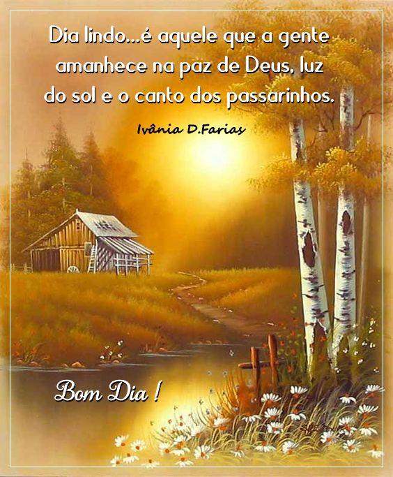 Bom dia na paz de Deus
