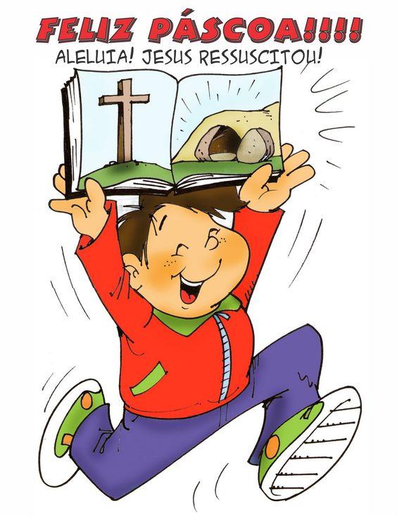Feliz Páscoa aleluia Jesus ressuscitou