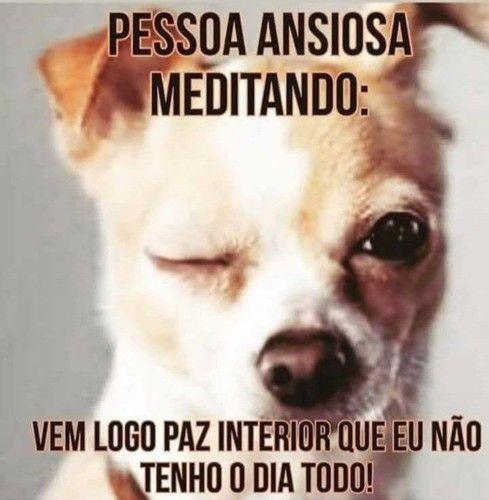 A pessoa ansiosa tem dificuldades para meditar.