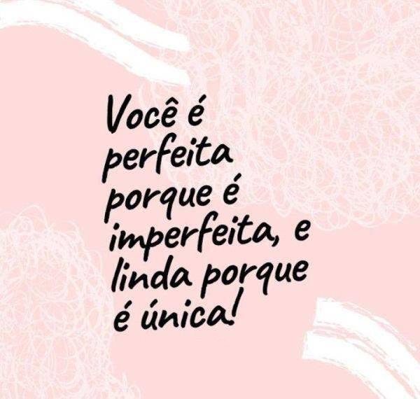 você é perfeita