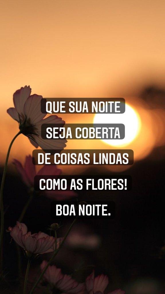 Boa noite com maravilhosas flores