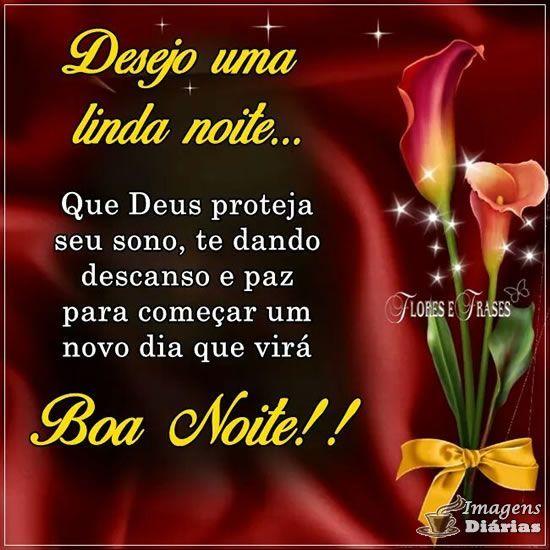 Desejo linda noite com Deus