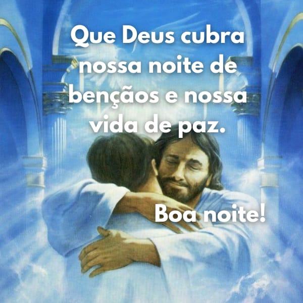 Noite de paz e abençoada por Deus