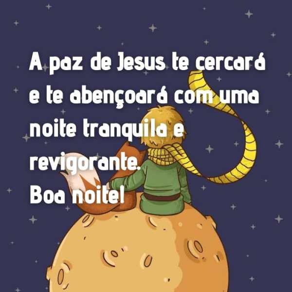Boa noite na paz de Jesus