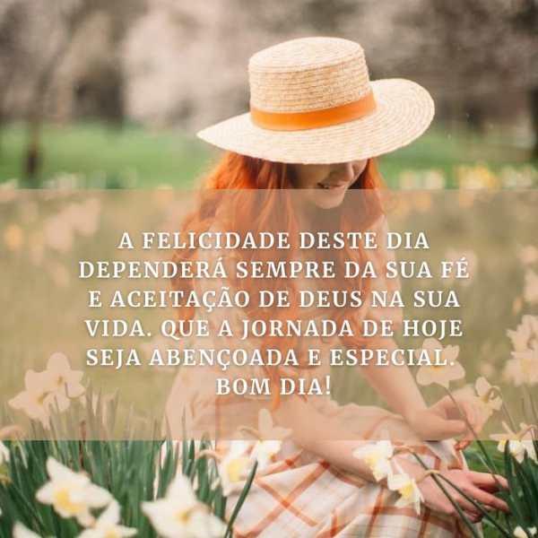A sua felicidade depende dá sua fé, então escolha a Deus