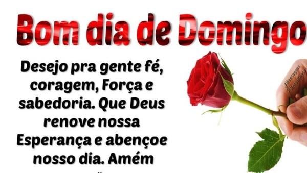 Bom dia de Domingo com fé