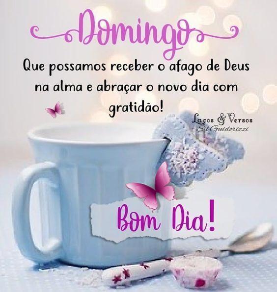 Bom dia Domingo com afago de Deus