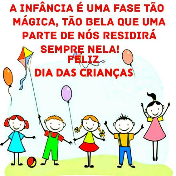 Feliz dia das crianças a infância