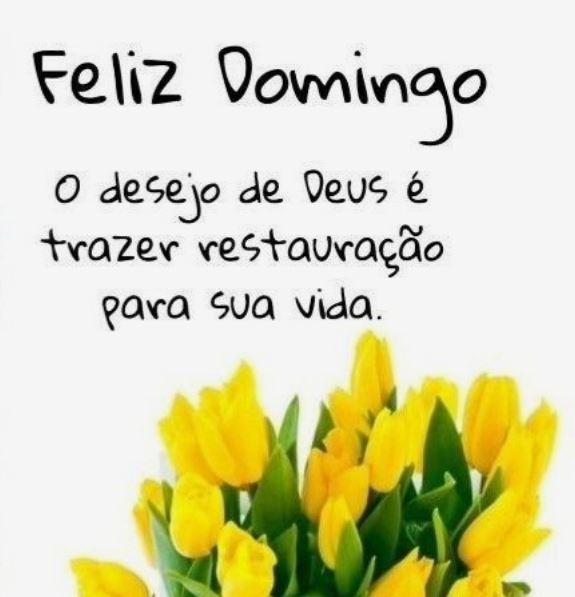 Feliz Domingo desejo de Deus