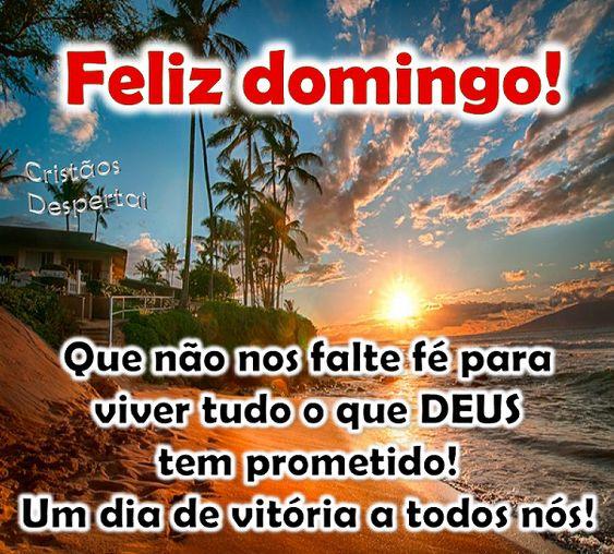Feliz Domingo com fé em Deus