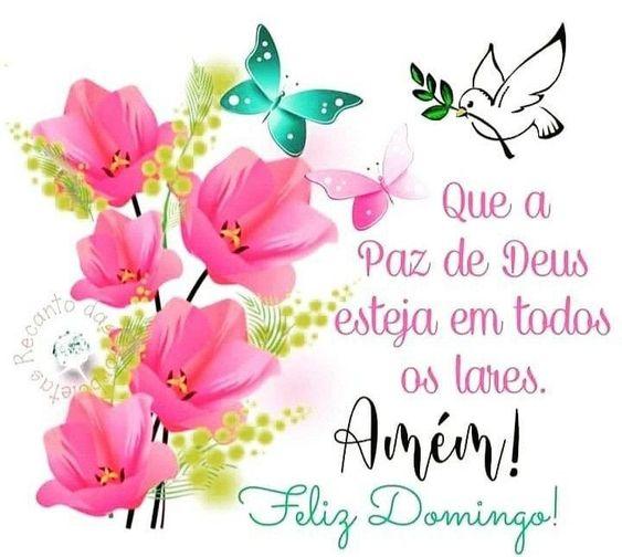 Feliz Domingo com a paz de Deus