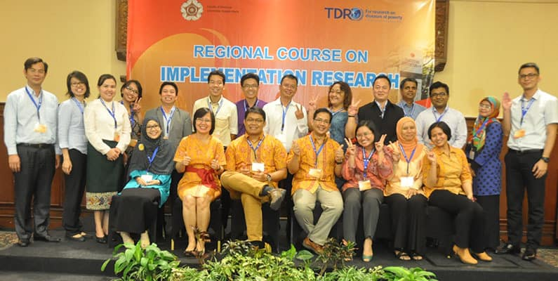 2nd Batch of Regional Course on Implementation Research (IR) , Yogyakarta, Indonesia, September 27 – 30, 2016