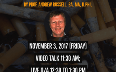 "Webinar on ""Tobacco: Colonial Futures of a Master Plant"" by Prof. Andrew Russell"