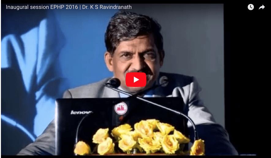 EPHP 2016|Dr. K S Ravindranath