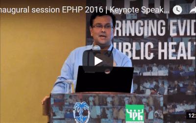 Inaugural session EPHP 2016   Keynote Speaker   Kabir Sheikh