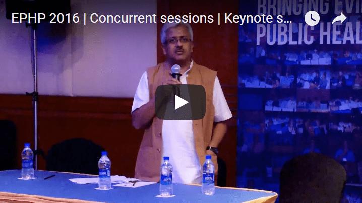 EPHP 2016 | Concurrent sessions | Keynote speaker | R Balasubramaniam