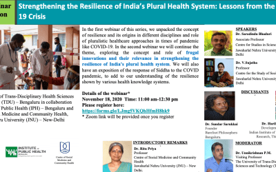 Strengthening the Resilience of India's Plural Health System: Lessons from the COVID19 Crisis