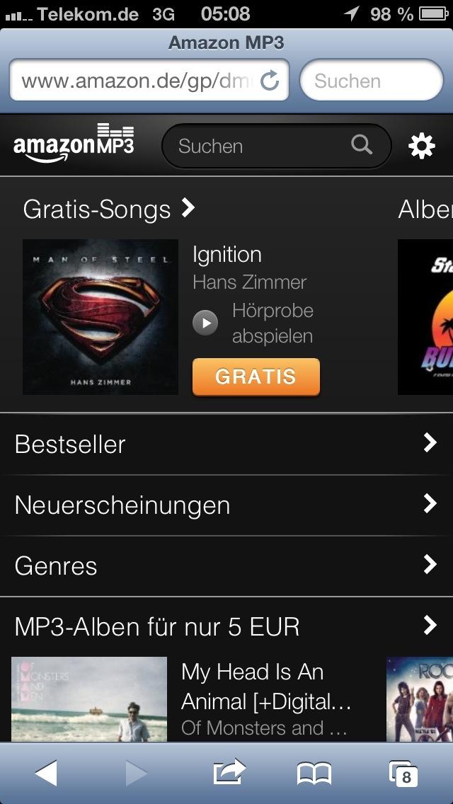 6b3e789626883a Lieder bei Amazon kaufen und direkt auf dem iPhone speichern ...