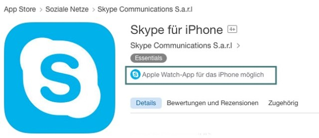 App funktioniert auch mit Apple Watch
