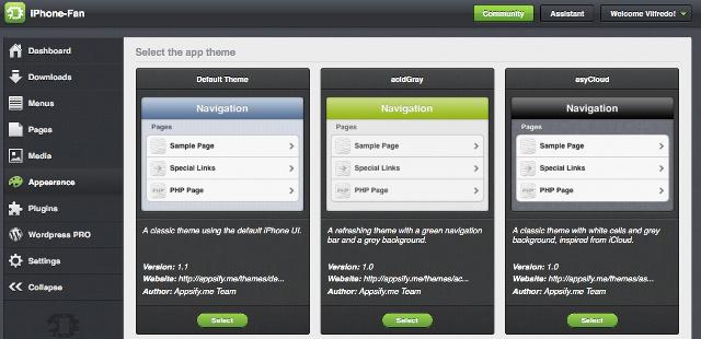 Design-Vorlagen bei Appsify.me