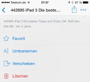 Dropbox Optionen