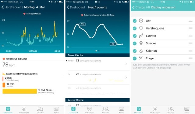 Herzfrquenz Fitbit Charge HR