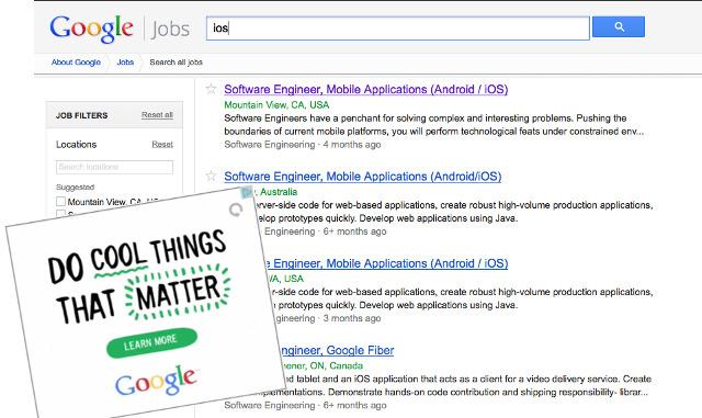 Stellenausschreibungen für iOS-Entwickler bei Google