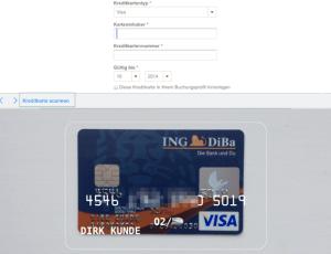 iOS 8 Kreditkarte scannen