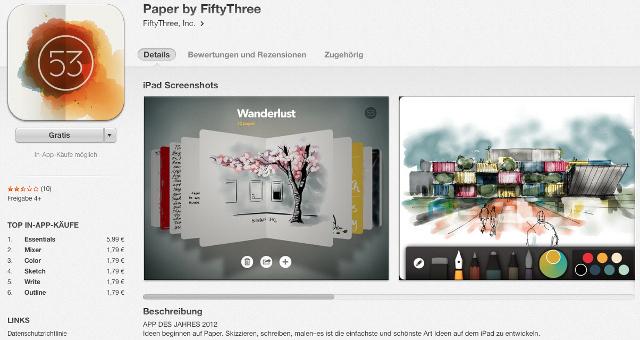 Gleichnamige App von 53 - Paper