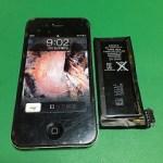 【修理実績No.271】iPhone4のバッテリー交換