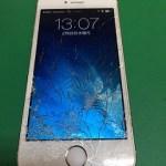 【修理実績No.276】iPhone5Sのフロントパネルガラス割れ