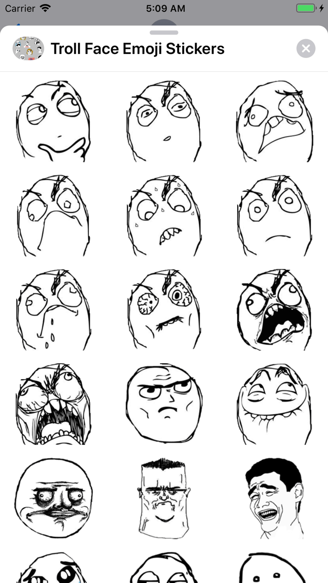 Troll Face Meme Angry Happy Mad Mask Fake Lies Crying