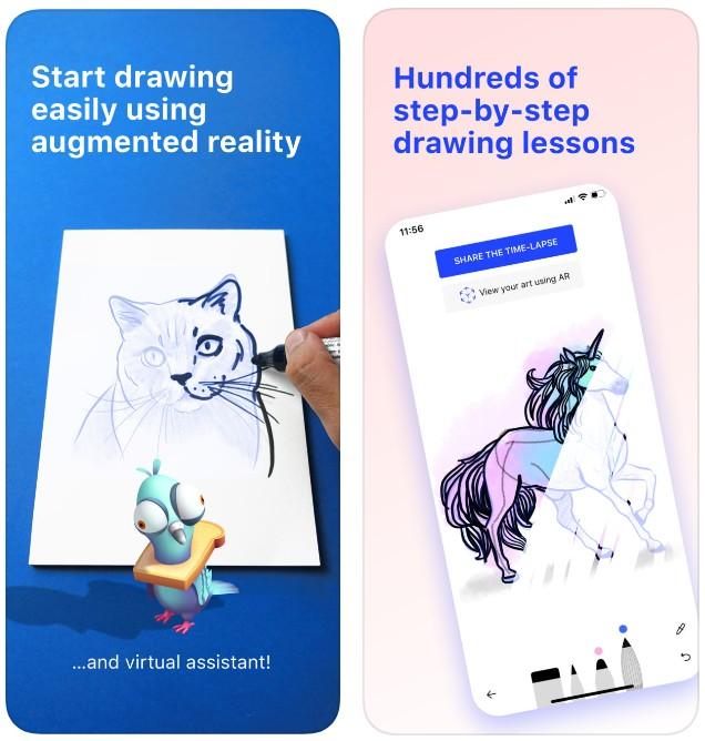 """تحميل ﺗﻄﺒﻴﻖ """"SketchAR"""" لتعلم الرسم الإحترافي باستخدام الواقع المعزز – للآيفون والاندرويد capture_2019-05-12-0"""