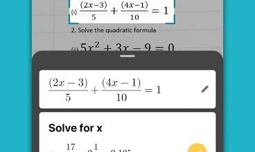 تطبيق لحل المسائل الرياضية