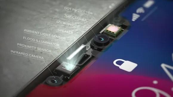 iPhone X Face ID TrueDepthカメラ