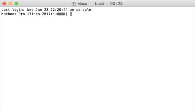 Mac ターミナル 起動直後