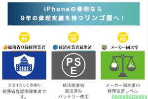 iPhone修理のリンゴ屋とは?評判や口コミを調査!