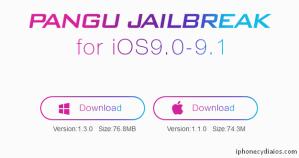 Download Pangu Jailbreak for iOS 9.1 (Windows)