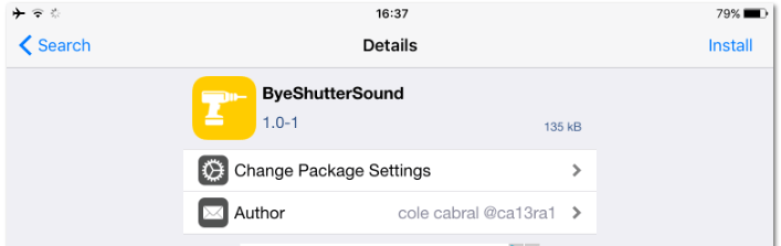ByeShutterSound Remove Camera Sound iOS - download