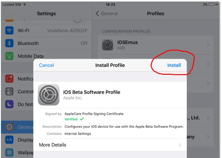 Install iOS 10 Beta 3