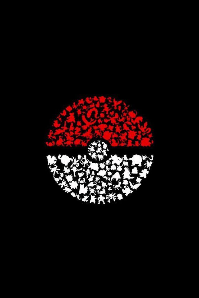 Pokemon Go Wallpapers Dark Pokemon Symbol iPhone