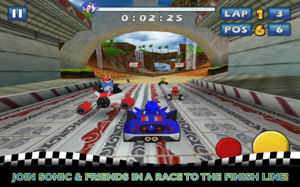 #9 in Our Best iOS Racing Games List – Sonic & SEGA All-Stars Racing