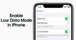 26. Reduce the Data Usage of Apps with the Low Data Mode