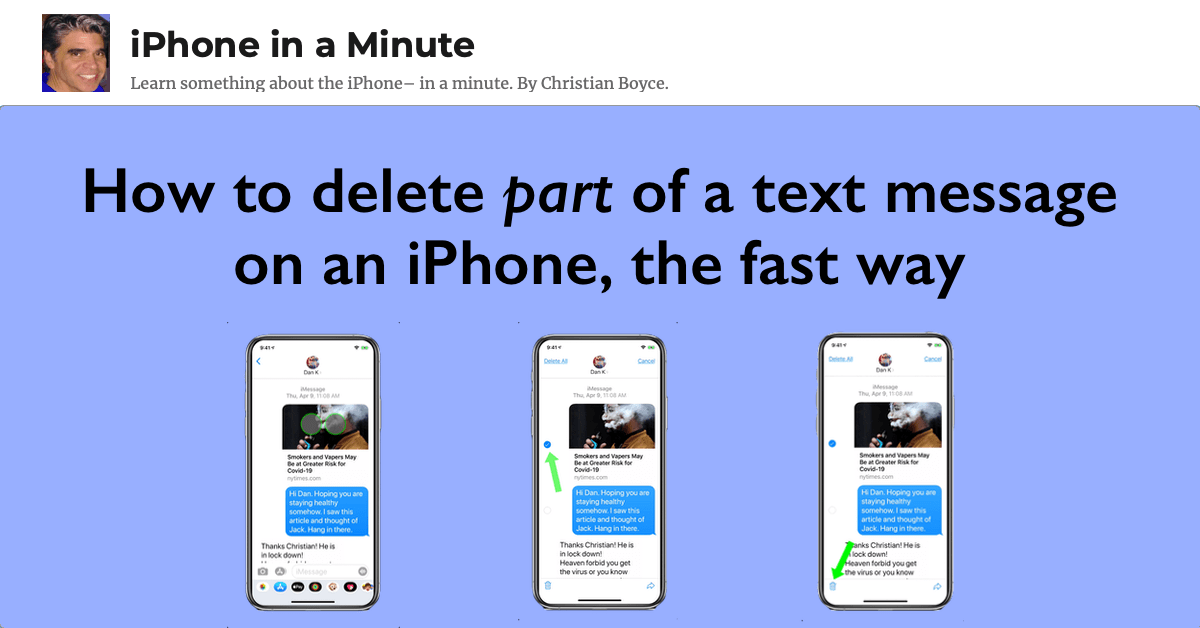 How to delete part of a text message on an iPhone, the fast way