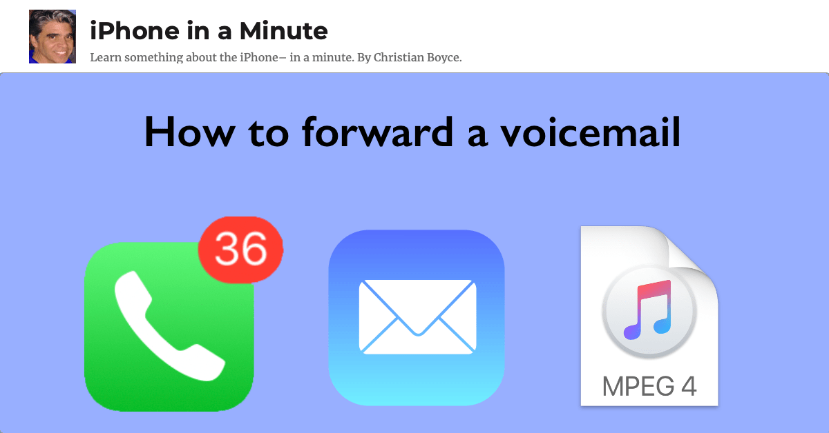 How to forward a voicemail