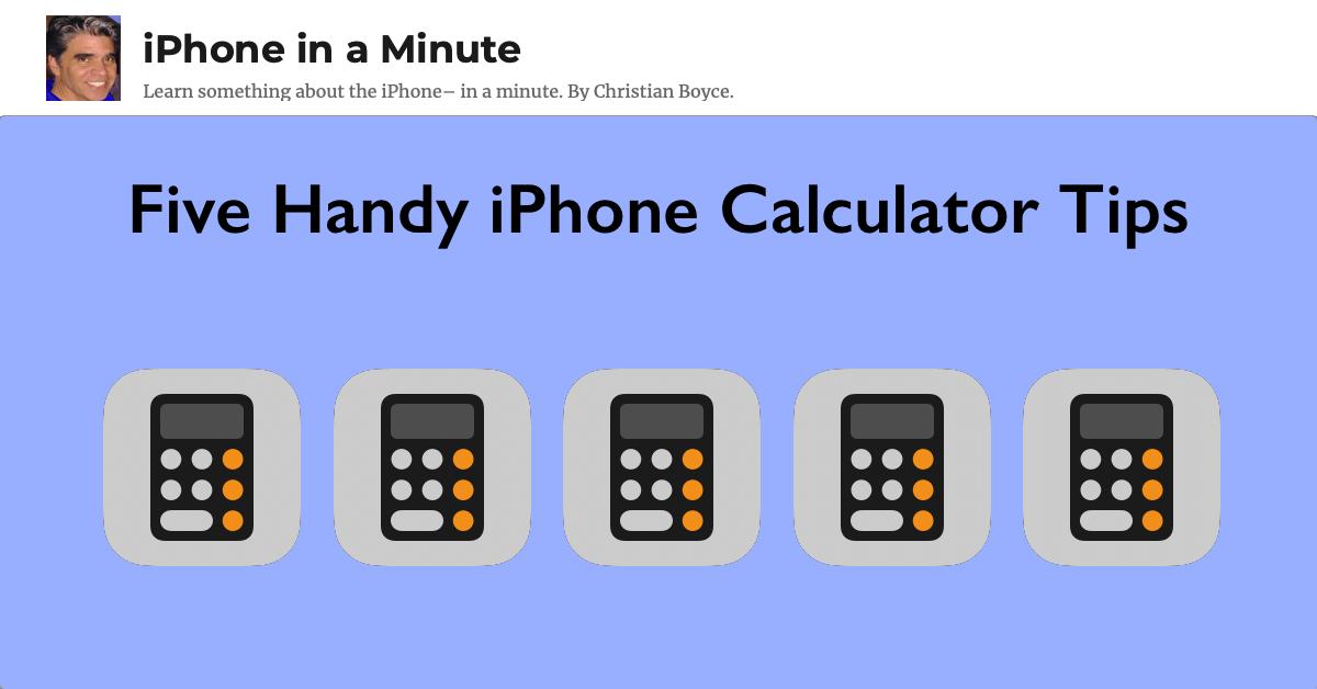 Five Handy iPhone Calculator Tips