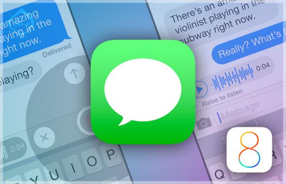 ما الجديد فى تطبيق الرسائل فى نظام iOS 8؟