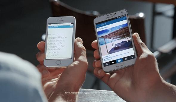 Samsung envy iphone screen